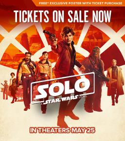 Solo Star Wars Image to buy tickets
